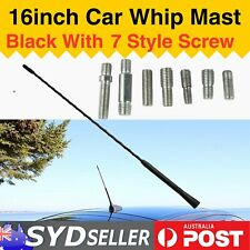 "16"" Screw On AM FM Antenna Whip Mast Car Roof Signal Booster Aerial Replacement"