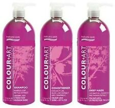 NATURAL LOOK Color.Art Shampoo,Conditioner & Deep Mask 1L with Pumps