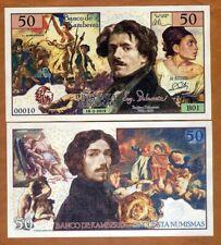 Kamberra, 50 Numismas, 2019, Unc > Eugene Delacroix
