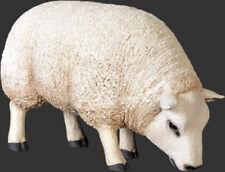 Lamb Statue - Small Lamb Statue - White Texel Lamb - Small - Head Down