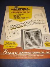 1950's Broan Fan Catalog retro Kitchen planning vintage Home Design