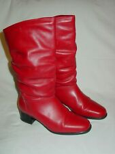 Womens Details Brand Sexy Red Leather Slouch Fashion Boots Angled 7 B Canada