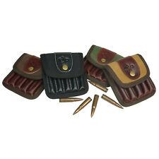 Leather Canvas Rifle Belt Ammo Pouch .223 .308 .243, Rifle cartridge loops