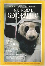 National Geographic March 1986 Giant Panda/Sam Houston/Narwhals/Holy City of Fez