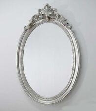 Espejo de Pared Barroco Ovalado Vintage Plata ANTIGUO Rococó 120x75 cm woe