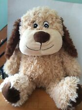 Creamy Puppy Dog Plush w Squeaker Lovey Stuffed Animal Toy clean