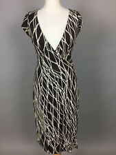 Women's DIANE VON FURSTENBERG/DVF Nautical Net Pattern Wrap Dress. UK10-12