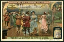 Renaissance Lighting By Candelabra Candle Wax  c1908 Trade Ad Card