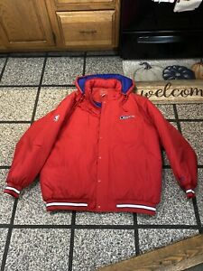 New Vintage Reebok LA Clippers Red Embroidered Varsity Adult 2xl Bomber Jacket!