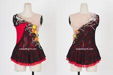IceSkating Dress Girls Custom Figure Skating / Women Competition Red Black
