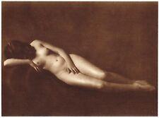 1920's Vintage Prague Female Nude Model Hess Art Deco Photo Gravure Print