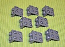(8) Dark Gray 1x2 - 2x2 Down Right Angle Direction Change Bricks ~ Lego NEW