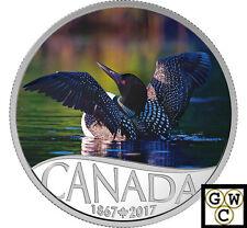 2017 Common Loon-Celebrate Canada's150th ColorPrf $10Silver 1/2ozFine(NT)(17731)
