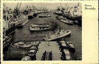 Bremen ~1940/50 Überseehafen Hafen Schiffe Frachter Dampfer Boote Hafenrundfahrt