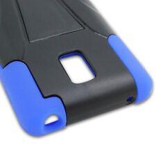 For LG Optimus F7 US780 Black Blue Case Hybrid Stand Heavy Duty Hard Cover