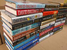 Lot of 10 DAVID BALDACCI Books KING & MAXWELL WILL ROBIE PULLER HARDCOVER*RANDOM