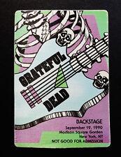 Grateful Dead Backstage Pass Puzzle Piece Dead Guitar Skeleton Msg 9/19/1990 Ny