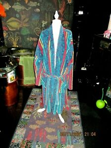 80S -90S MENS VINTAGE DRESSING GOWN SAYS L ROBE GC TOWELLING