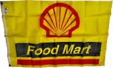 Vintage Shell Food Mart Flag from 1980's