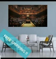 """BANKSY """"Devolved Parliament"""" Street Artwork / Print on Glossy Paper or Canvas"""