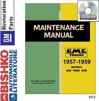 1957 1958 1959 GMC Truck Shop Service Repair Manual CD Engine Drivetrain Wiring