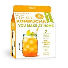 Kombucha Brewing Starter Kit: Organic SCOBY USDA Glass Gallon Jar Organic Ris...