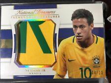 2018 Panini National Treasures Neymar Jr Tremendous Jumbo Patch /10 Logo Brazil