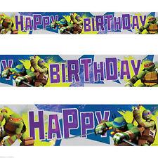 Teenage MUTANT NINJA TURTLES TMNT Festa Di Compleanno Lamina Striscione Decorazione 4.5m