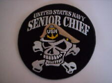 Aufnäher der United States Navy  USN SENIOR CHIEF ca 10 cm