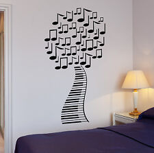 Wall Stickers Musical Tree Music Piano Sheet Art Mural Vinyl Decal (ig1992)