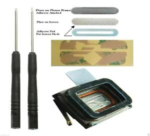 iPhone 4 4s 4g Speaker Earpiece Replacement Mic Microphone + Adhesive + Mesh
