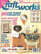 Craftworks For The Home Magazine June 1991 Patterns Idea Book Kid Craft Projects