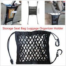 Car Seat 2 Layers Storage Mesh/Organizer Cargo Elastic Net & Hook Pouch Holders