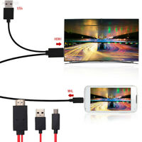 8A9E Micro USB MHL To HDMI HDTV TV Adapter Cable Lead For Android Mobile Phone