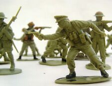 Plastic British Pale Green Army Military Toy Soldiers X28 JOB LOT 1980s