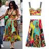 Kylie Jenner Baroque Montage Voyage Print Set Midi Skirt Bralette Satin Pleat