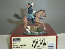 BRITAINS 17483 UNION CAVALRY PRIVATE MOUNTED NO.5 METAL TOY SOLDIER FIGURE
