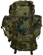 German Army Issue Flecktarn Rucksack - Surplus Backpack Bergan Bag Pack Soldier