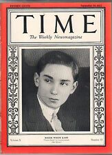1927 Time September 19 - Roger Wolfe Kahn;Indiana Scandals;Atlantic City Pageant