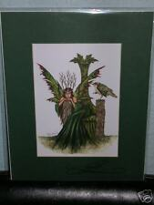 Amy Brown - Twig Queen Ii - Matted Mini - Signed - Rare