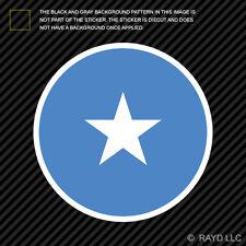 Round Somali Flag Sticker Die Cut Decal Self Adhesive Vinyl Somalia SOM SO