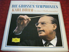 4LP Box KARL BÖHM  Mozart Die Grossen Symphonien DGG Stereo