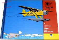 Album TINTIN les avions fascicule l'hydravion du Crabe aux Pinces d'Or booklet