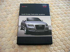 AUDI CROSS CABRIOLET QUATTRO CONCEPT VEHICLE PRESS CD BROCHURE BOXED SET 2008.
