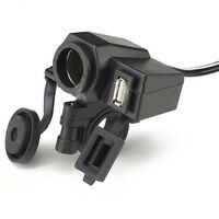 Motorcycle USB Waterproof Cigarette Lighter Charger Power Integration Outlet