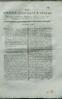 1789 'NUOVO GIORNALE D'ITALIA': SU AGRICOLTURA BERGAMASCA; PRUGNE DI BRIGNOLES