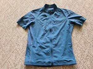 EUC Lululemon Men's Cycling Short Sleeve Jersey Full Zip Color Blue Large L