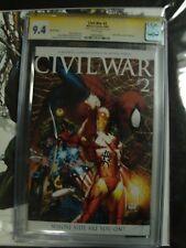 civil war #2 Michael Turner variant CGC 9.4 signed by Joe Quesada