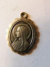 Médaille Pendentif Soubirou apparition Lourdes de Argent Plaqué Silver Silber