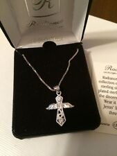 Radiance $60+ 925 Sterling silver Angel Cross Necklace Wings Religious